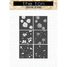 The Ton - Rose Blossoms Layering Stencils