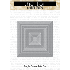 The Ton - Square Frames Slim Borders Coverplate Die