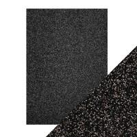 Tonic Studios - Craft Perfect - Glitter Card - Black Sapphire (250 gsm A4 - 5 sheets)