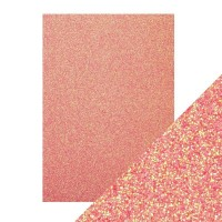 Tonic Studios - Craft Perfect - Glitter Card - Candy Floss (250 gsm A4 - 5 sheets)