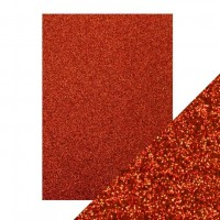 Tonic Studios - Craft Perfect - Glitter Card - Ruby Ritz (250 gsm A4 - 5 sheets)