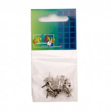 Vaessen Creative - Brads - Stars Mini Silver (50 pieces)