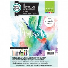 Florence - Watercolor Paper 300g - Texture - White (10 A4 sheets)
