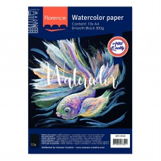 Florence - Watercolor Paper 300g - Smooth - Black (10 A4 sheets)