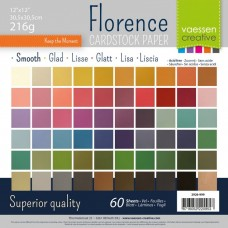 """Florence - Cardstock smooth 12x12"""" - Assortment (60 sheets)"""