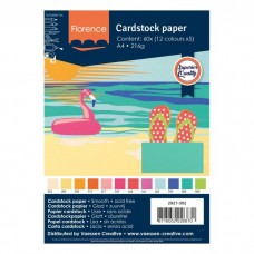 Florence - Cardstock smooth A4 - Assortment Summer (12 x 5 sheets)