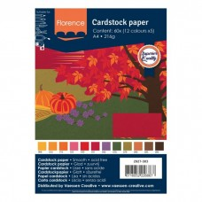 Florence - Cardstock smooth A4 - Assortment Autumn (12 x 5 sheets)