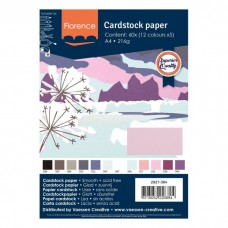 Florence - Cardstock smooth A4 - Assortment Winter (12 x 5 sheets)