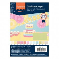 Florence - Cardstock smooth A4 - Assortment Pastel (12 x 5 sheets)