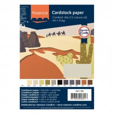 Florence - Cardstock smooth A4 - Assortment Earth Tones (12 x 5 sheets)