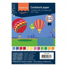 Florence - Cardstock smooth A4 - Assortment Basics (12 x 5 sheets)