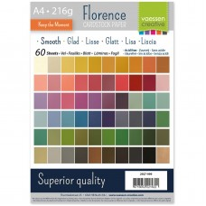 Florence - Cardstock smooth A4 - Assortment (60 sheets)