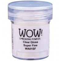 WOW! Embossing Powder WA01SF - Super Fine - Clear Gloss