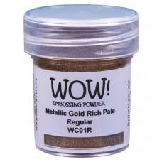 WOW! Embossing Powder WC01R - Regular - Metallic Gold Rich Pale
