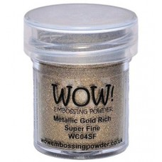 WOW! Embossing Powder WC04SF - Super Fine - Metallic Gold Rich