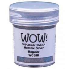 WOW! Embossing Powder WC05R - Regular - Metallic Silver