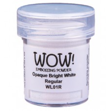 WOW! Embossing Powder WL01R - Regular - Opaque Bright White