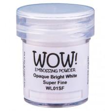 WOW! Embossing Powder WL01SF - Super Fine - Opaque Bright White