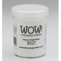 WOW! Embossing Powder WL01SFL - Super Fine - Opaque Bright White (large)