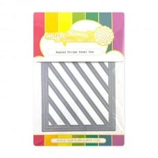 Waffle Flower - Angled Stripe Panel Die