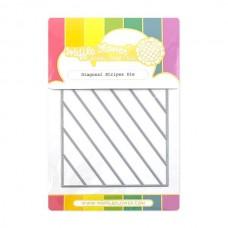 Waffle Flower - Diagonal Stripes Die