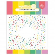 Waffle Flower - Confetti Stencil Duo