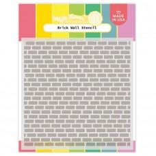 Waffle Flower - Brick Wall Stencil