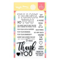 Waffle Flower - Thank You Stamp Set