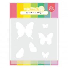 Waffle Flower - Spread Your Wings Matching Stencil