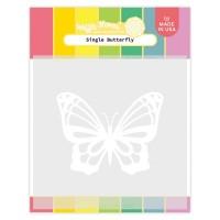 Waffle Flower - Single Butterfly Stencil