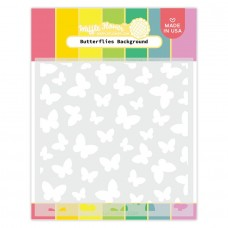 Waffle Flower - Butterflies Background Stencil