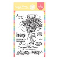Waffle Flower - Wrapped Bouquet Stamp Set
