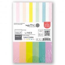 Waffle Flower - Half-Half Lines - Unicorn Paper Pad