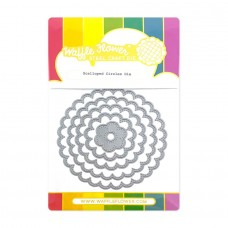Waffle Flower - Scalloped Circles Die