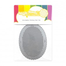 Waffle Flower - Stitchable Pinking Oval Die