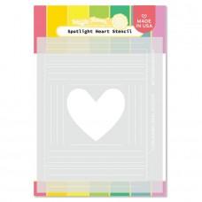 Waffle Flower - Spotlight Heart Stencil