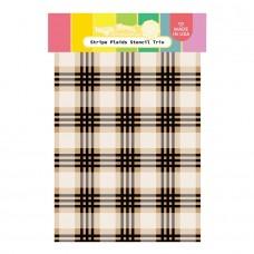 Waffle Flower - Stripe Plaids Stencil Trio