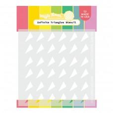 Waffle Flower - Infinite Triangles Stencil