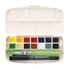 Kuretake - Gansai Tambi Portable 14 Colors Set